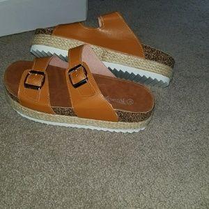 18e122f031f Nature Breeze Shoes - Nature Breeze platform sandals size 10 NWOT